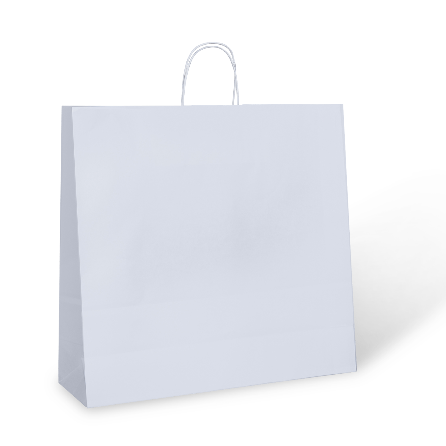 White 26 New York Paper Twist Handle Bag Carry Bags